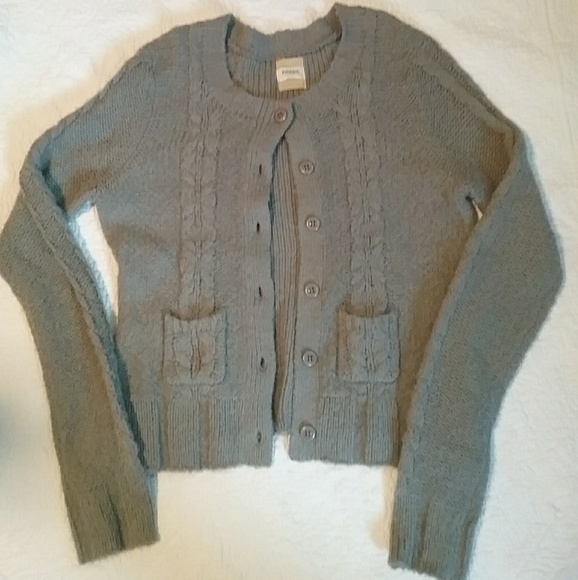 Fossil Sweaters - Gray Fossil cardigan size XL